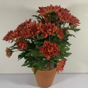 Faux flowers with vase